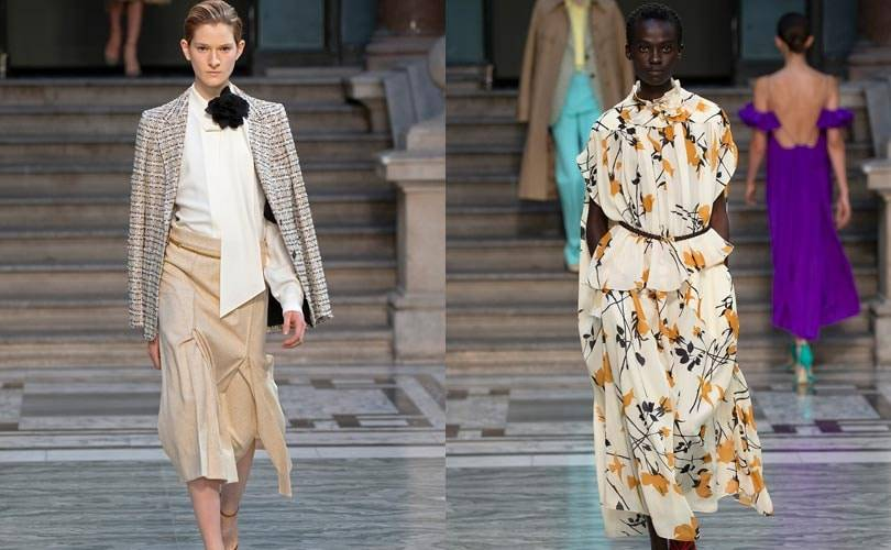 Dresses flow for Beckham, billow for Goddard: London fashion trends