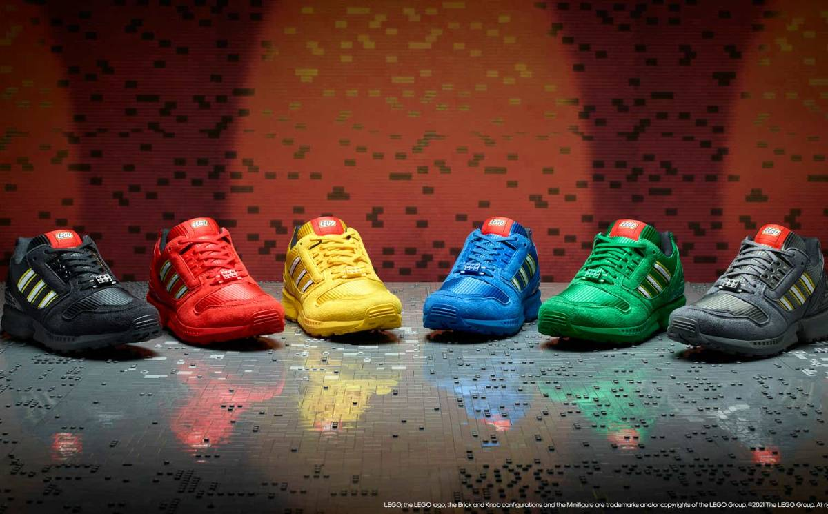 Adidas Originals and the Lego Group link for colorful collaboration