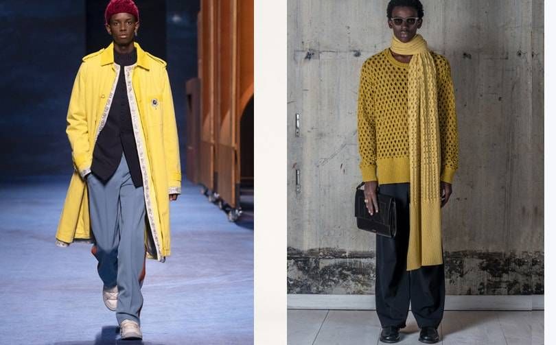 Fall 2021 menswear trend: yellow