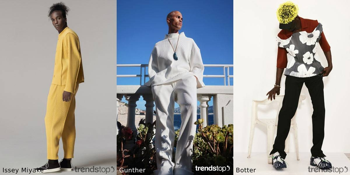 SS21 menswear material trends