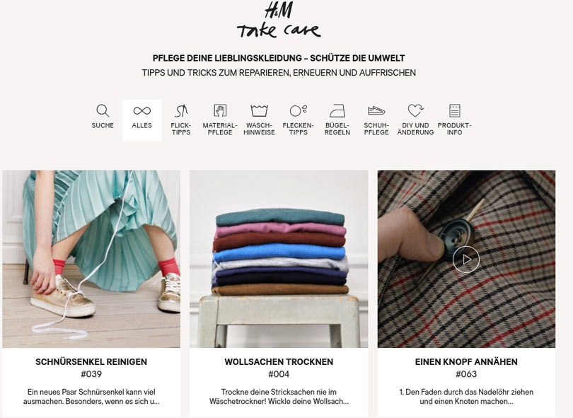 H&M launches 'Take Care' apparel pilot in Hamburg