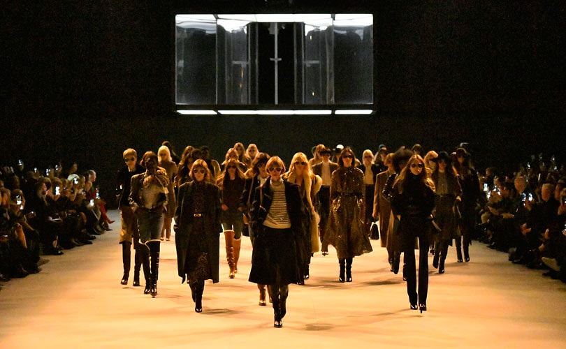 533e7156722 Hedi Slimane shakes up Paris Fashion Week with a new look Celine