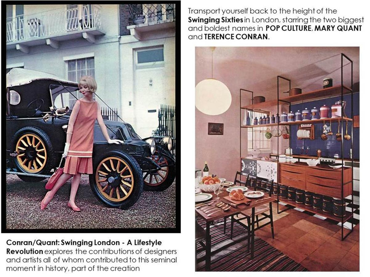 "Inside the new book ""Swinging London: A Lifestyle Revolution / Terence Conran - Mary Quant"""