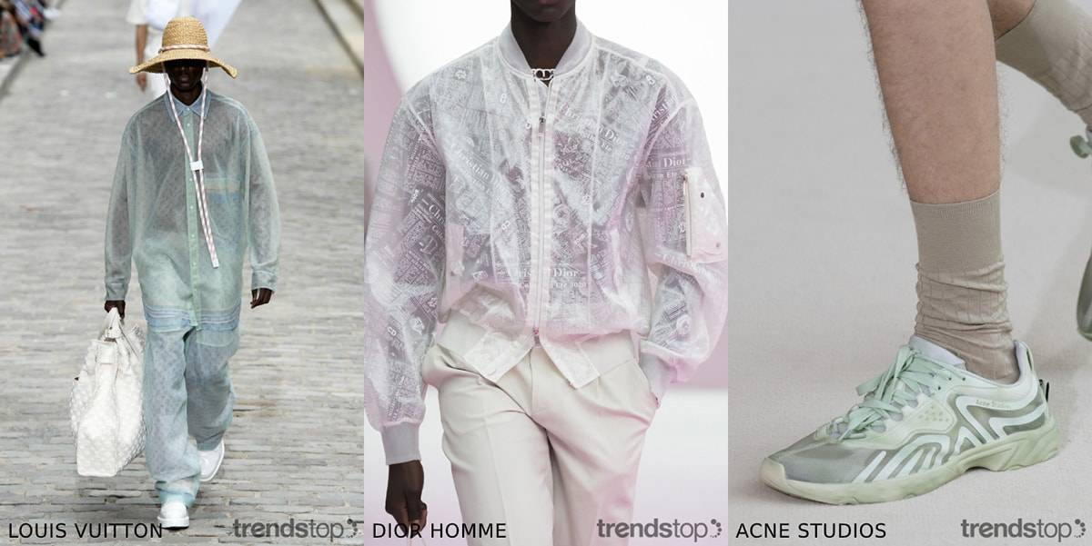 Key Men's catwalk material trends Spring Summer 2020