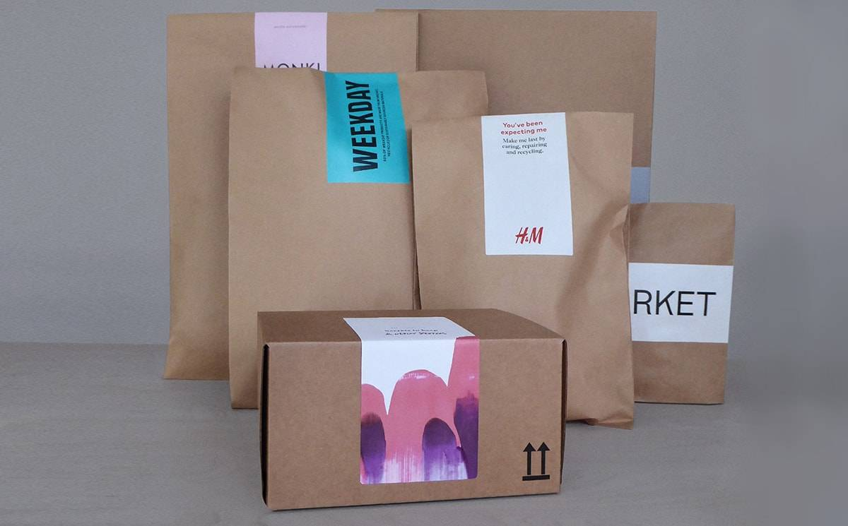 H&M tests multi-brand recyclable paper packaging system